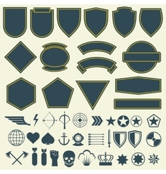 elements for military army patches badges vector image