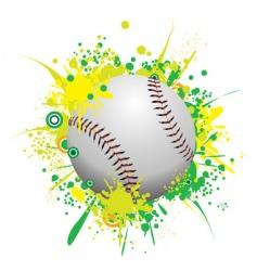 splattered ball vector image vector image