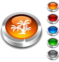 tropical 3d button vector image vector image