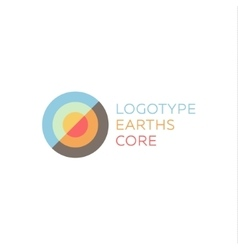 Earths crust the core section abstract geodesic vector image