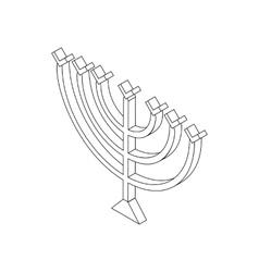Hanukkah menorah isometric 3d icon vector image