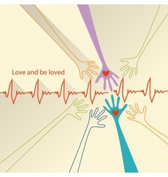 love and be loved vector image