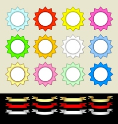 Multicolored stars and banners vector image