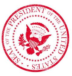 presedent seal ruber stamp vector image