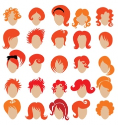 red hair styling vector image vector image