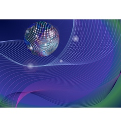 silver disco mirror ball background vector image vector image