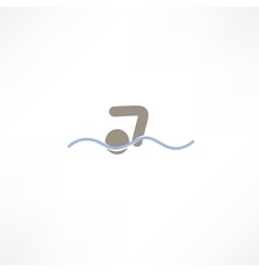 swimmer icon vector image vector image