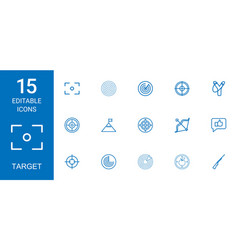 15 target icons vector