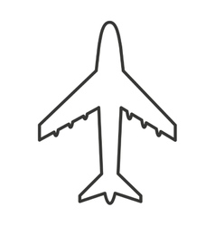 airplane silhouette isolated icon vector image vector image