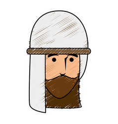 Arab character avatar icon vector