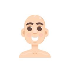 bald-headed man character flat style vector image
