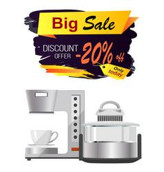 Big sale discount offer advert vector