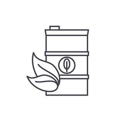 bio fuel line icon concept bio fuel linear vector image