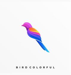 Bird colorful template vector