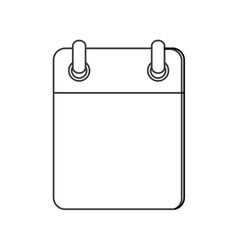 Blank notepad icon vector