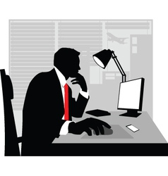 Businessman silhouette vector