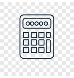 calculator concept linear icon isolated on vector image
