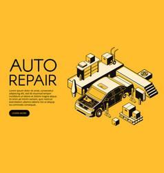 Car repair service isometric vector
