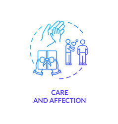 Care and affection concept icon vector