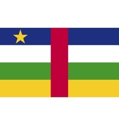 Central African Republic flag image vector
