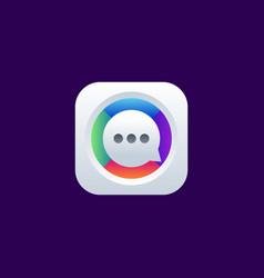 Chat app icon design vector