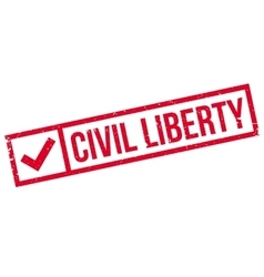 Civil Liberty rubber stamp vector image