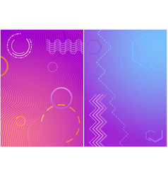 colorful covers with geometric colored shapes vector image