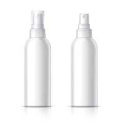 Cosmetic bottle can sprayer container vector