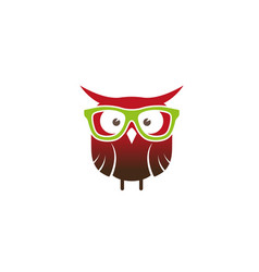 Creative owl geek logo design symbol vector