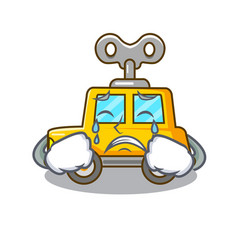 Crying cartoon clockwork toy car for gift vector