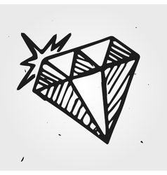 diamond gemstone hand drawn vector image