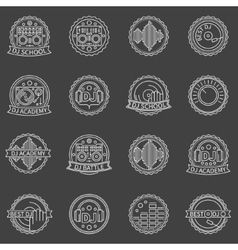 DJ labels set vector