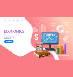 Economics school discipline university studies vector