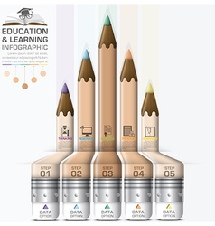 Education And Learning Step Infographic With vector image vector image