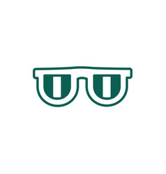 Eyeglasses accessory line style icon vector