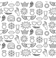 Fashion Patches Seamless Pattern vector