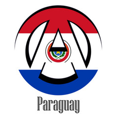 flag of paraguay of the world in the form of a vector image