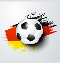 football soccer ball and germany flag colors vector image
