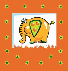 fruity elephant vector image