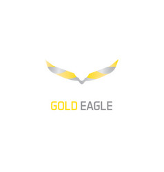 gold eagle logo vector image