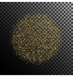 Gold glitter dust sphere isolated vector image