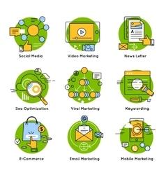 Green Digital Marketing Concept vector