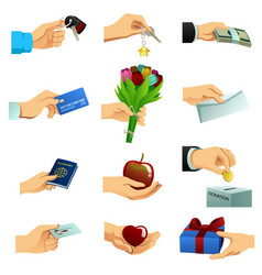 hand doing different things vector image