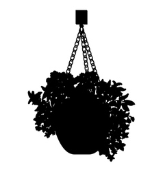 Hanging pot vector