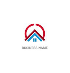 home rorealty round company logo vector image