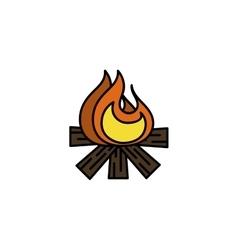Hunting icon Bonfire vector image