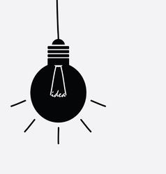 Idea light buble black and white vector
