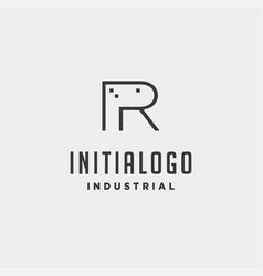 Initial letter r real estate logo design vector
