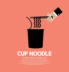 Instant cup noodle vector
