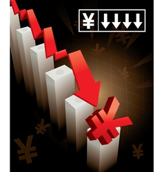Japanese Yen Currency Crash vector image